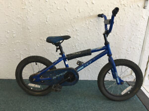 "Kids Bike-16"" Wheels - one pink and one blue"