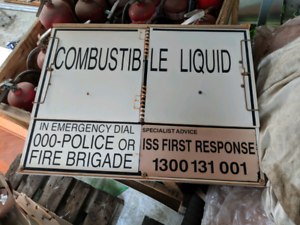 Fuel dangerous goods signs for tankers Byford Serpentine Area Preview