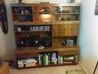 Solid wooden hutch/ display unit