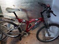 Saracen Full Suspension Mountain Bike Shimano Equipped Downhill Bicycle