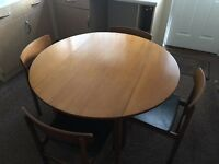 Drop leaf dining table and chairs X 4