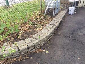 Pave UNI bloc mural et dales de Beton cement blocs patio stones