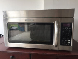 Over-the-Range Kitchen Aid Stainless Steel Microwave