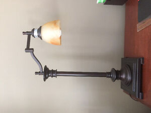 Aged bronze desk lamp set of 2