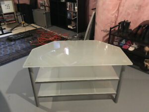 IKEA TV Table - Glass Shelves - Excellent Condition - $65