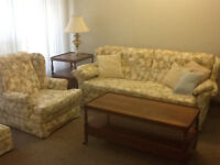Downsizing: quality period living room furniture