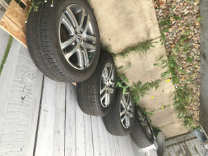 4 VW Tires with %70 tred! Great condition!