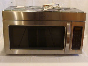 Brand new Whirpool Microwave Hood Combination with Two-Speed Fan