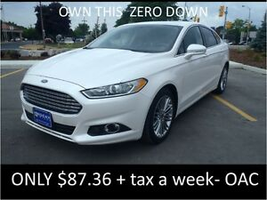 2013 FORD FUSION    ONLY  $87.36  A WEEK + TAX OAC