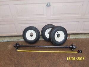 TRAILER AXLE AND WHEELS & TIRES