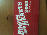 Boots and hearts weekend pass $260 obo
