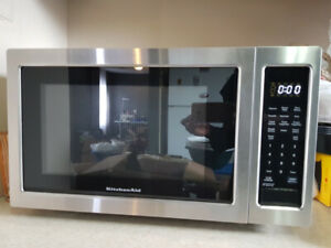 Stainless Steel KitchenAid Microwave