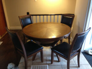 solid wood table set