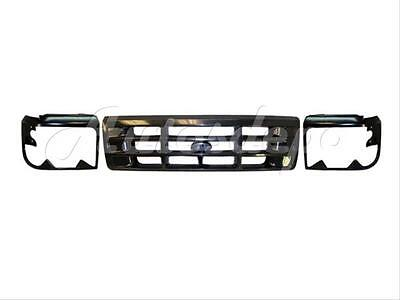 For 1992-1996 F150 F250 F350 92-96 Bronco Grille Headlight Door Bezel