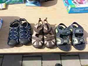 3 pairs of sandals small boys 10 and 11 London Ontario image 1
