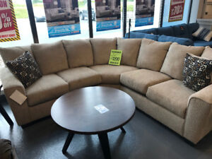 Super Comfortable Fabric Sectional - New