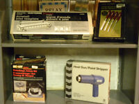different types of joiners and chesel set and heat gun
