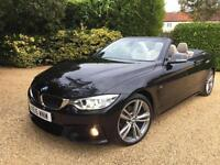"BMW 420 2.0 TD M SPORT AUTO CONVERTIBLE , HUGE SPEC , SAT NAV 19"" ALLOYS"
