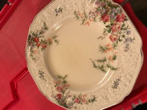 Set of dishes china Florentine madein england Rosalie