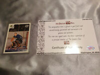 Johnny Bower and Frank Mahovlich Autographed Trading Cards