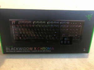 Brand new Razer BlackWidow XChroma Mechanical gaming keyboard