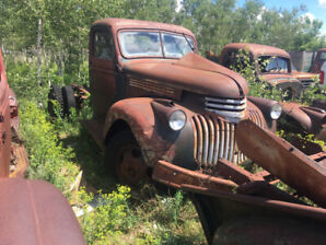 Few old cars and trucks for sale