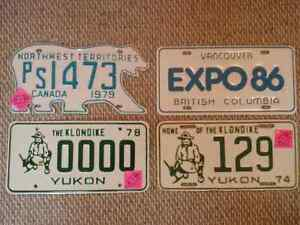 Various 1970s Licence Plate Sets Prince George British Columbia image 5