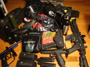 HUGE PaintBall Lot • Paint Ball Markers / Clothing / Accessories