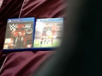 PS4 GAMES. FIFA 16. AND W2K 16