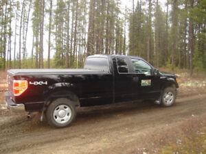 Camion F-150   noir 2009  4x4  Boîte de 8pi avec toîle