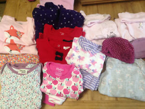 6-12 month twin girl matched clothing.