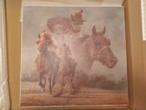 Fred Stone signed canvas unframed