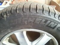 Tires on alluminum rims for sell