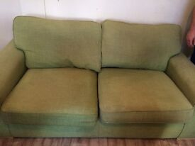 Light green 2 seater sofa