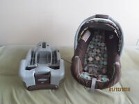 Graco infant car seat with base