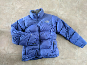 North Face purple puffer jacket women's small