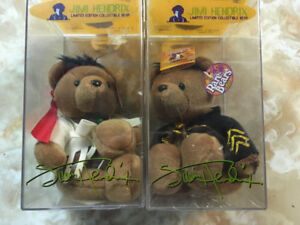 Jimi Hendrix Limited Edition Collectible Bears x2