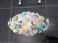 Wedding flowers top table and centrepieces
