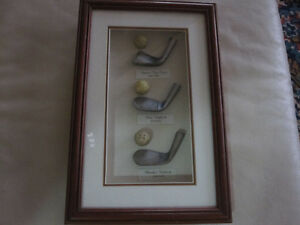 Early History Of Golf Framed Collage Memorabilia
