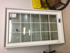 Triple Pane window with inserts and brick mold
