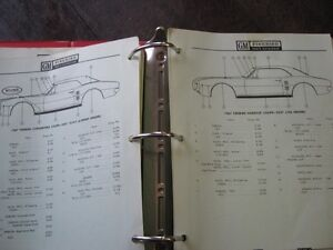 1967-76 FIREBIRD GM PARTS CATALOGUE ORIGINAL