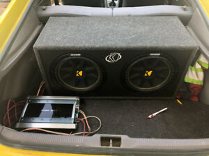 "12"" kicker subs with amp"