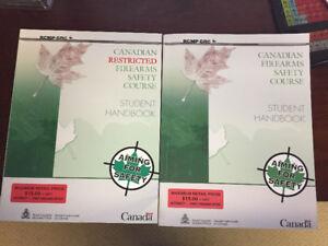 Canadian firearms Student handbooks