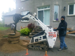 Post hole digging & setting *Gurbinder Singh 647-226-1213*