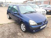 2002/02 Renault Clio 1.2 16v Extreme LONG MOT EXCELLENT RUNNER