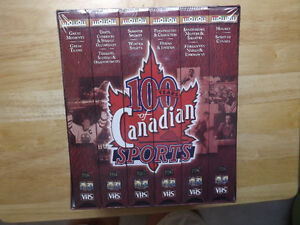 """FS: """"100 Years Of Canadian Sports"""" VHS 6-Tape Box Set (UNOPENED) London Ontario image 1"""