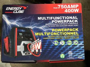 NEW ENERGY CUBE 400W POWERPACK PEAK 750AMP MULTIFUNCTIONAL
