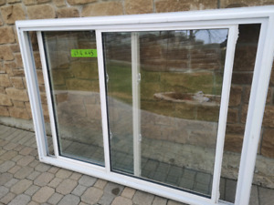 """Double slider thermal windows Used. 63"""" 1/4 x 45"""""""