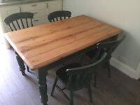 Pine-topped Dining Table and Chairs