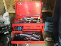 Mechanics Tool Box with Heavy Duty Wrenches and Tap sets and too